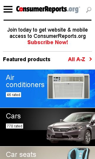 Mobile preview of consumerreports.org