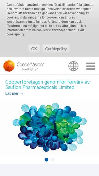 Mobile preview of coopervision.se