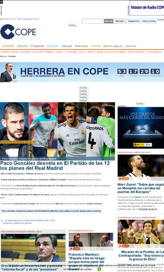 Mobile preview of cope.es