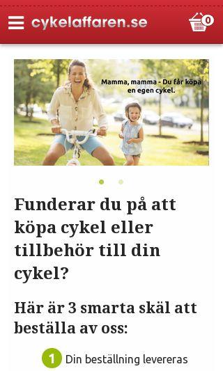 Mobile preview of cykelaffaren.se