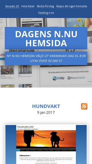 Mobile preview of dagenshemsida.n.nu