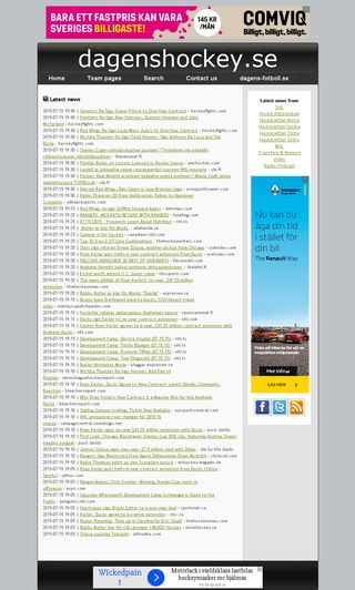 Mobile preview of dagenshockey.se