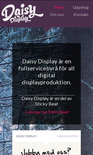 Mobile preview of daisydisplay.se