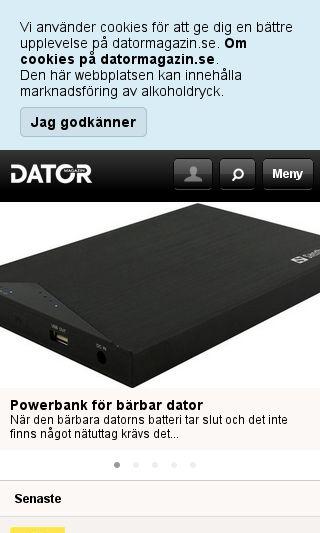 Mobile preview of datormagazin.se