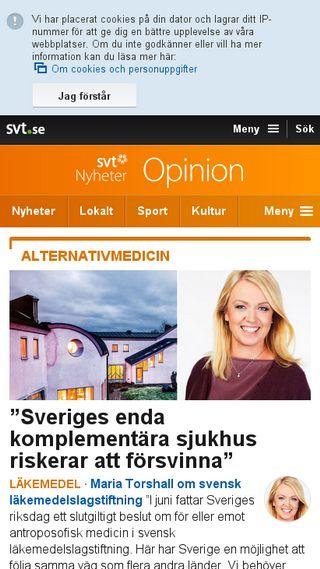 Mobile preview of debatt.svt.se