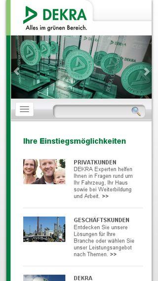 Mobile preview of dekra.de