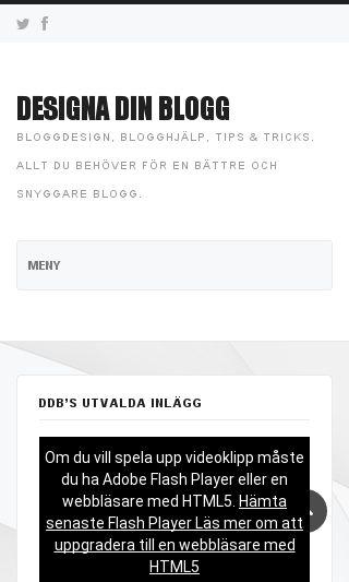 Mobile preview of designadinblogg.se