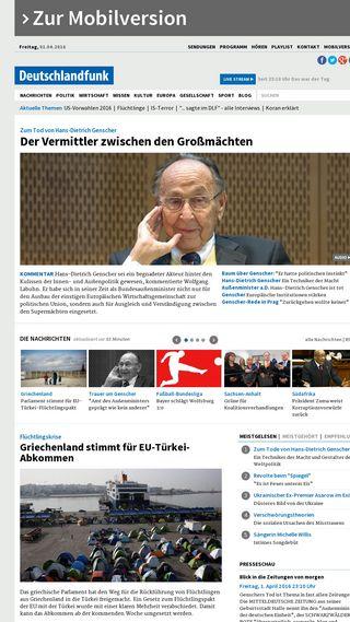 Mobile preview of deutschlandfunk.de