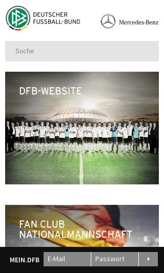 Mobile preview of dfb.de
