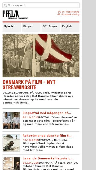 Mobile preview of dfi.dk