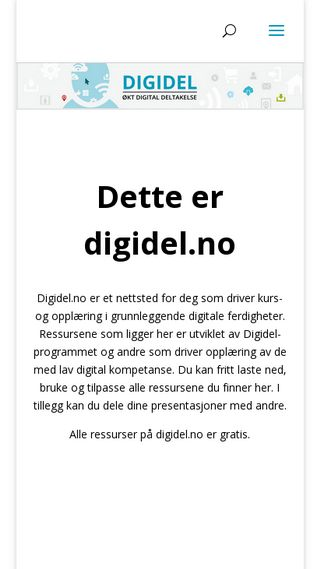 Mobile preview of digidel.no