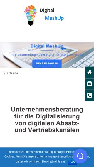 Mobile preview of digital-mashup.de