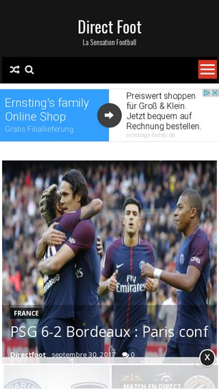 Mobile preview of directfoot.net