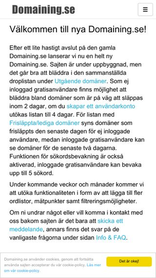Mobile preview of domaining.se