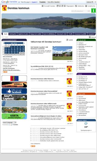 Mobile preview of dorotea.se