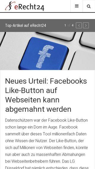 Mobile preview of e-recht24.de
