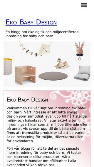 Mobile preview of ekobabydesign.se