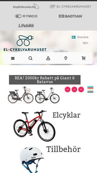 Mobile preview of elcykelvaruhuset.se