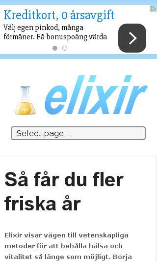 Mobile preview of elixir.nu