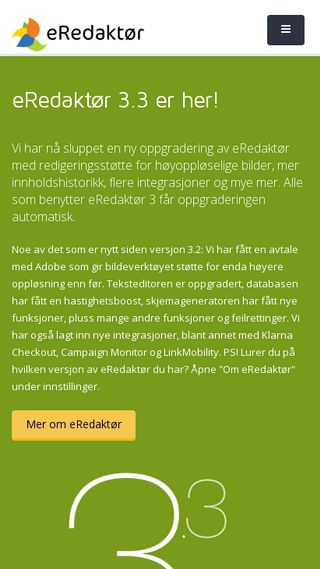Mobile preview of eredaktor.no