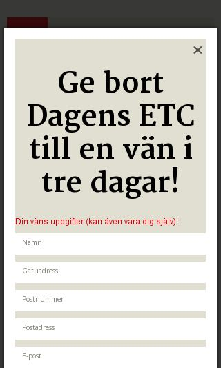 Mobile preview of etc.se