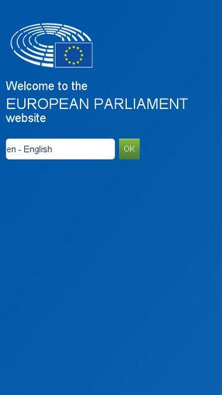 Mobile preview of europarl.europa.eu