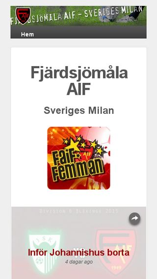 Mobile preview of faif.se