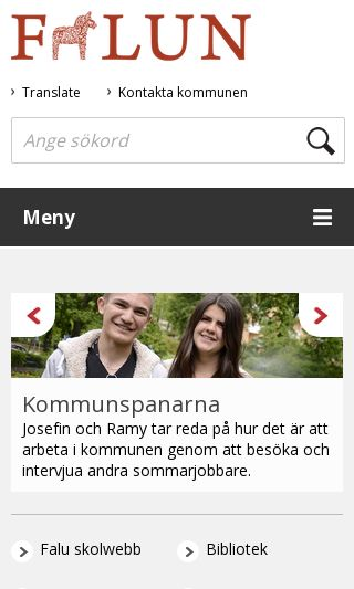 Mobile preview of falun.se