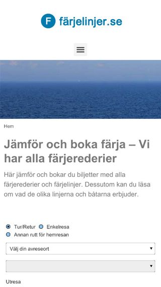 Mobile preview of farjelinjer.se