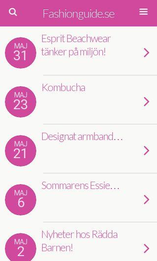 Mobile preview of fashionguide.se