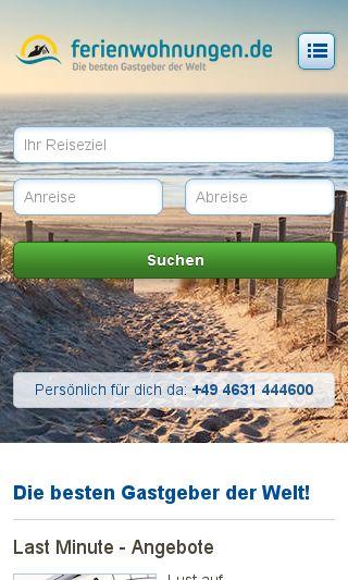 Mobile preview of ferienwohnungen.de