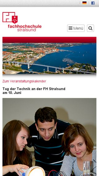 Mobile preview of fh-stralsund.de