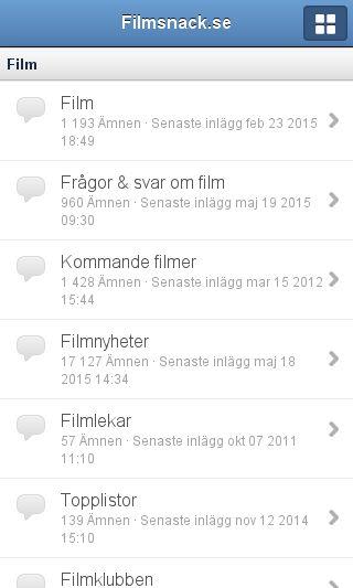 Mobile preview of filmsnack.se