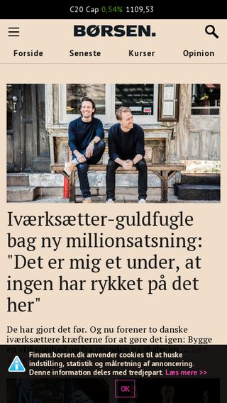 Mobile preview of finans.borsen.dk