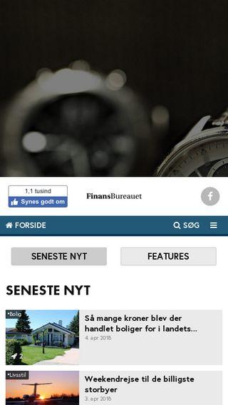 Mobile preview of finansbureauet.dk