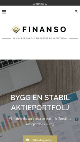 Mobile preview of finanso.se