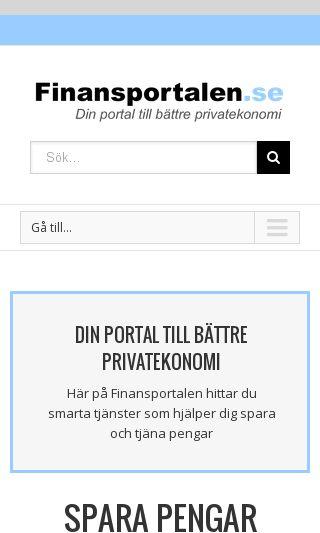 Mobile preview of finansportalen.se