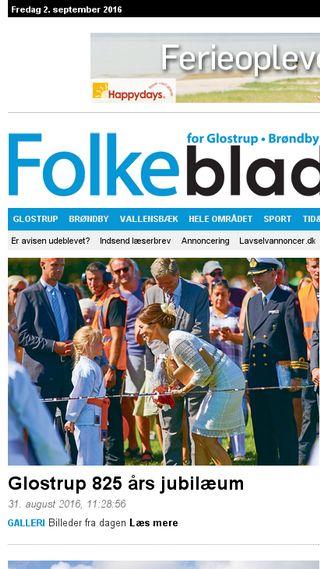 Mobile preview of folkebladet.dk
