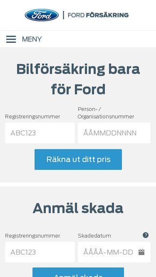 Mobile preview of fordforsakring.se