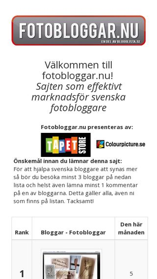 Mobile preview of fotobloggar.nu