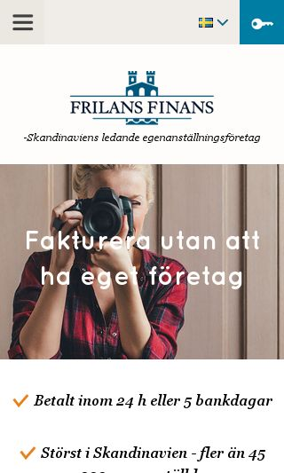 Mobile preview of frilansfinans.se