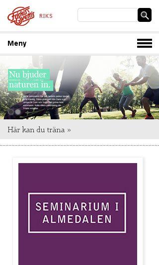 Mobile preview of friskissvettis.se