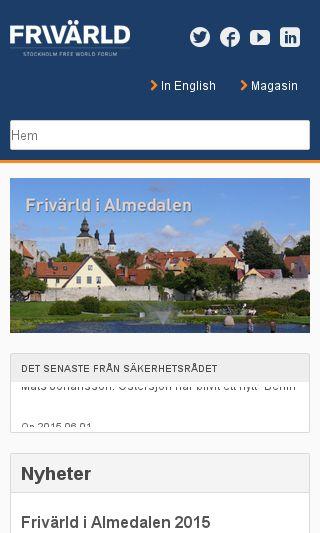 Mobile preview of frivarld.se