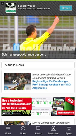 Mobile preview of fussball-woche.de