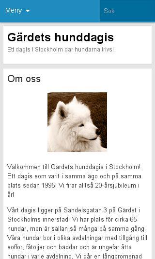 Mobile preview of gardetshunddagis.se