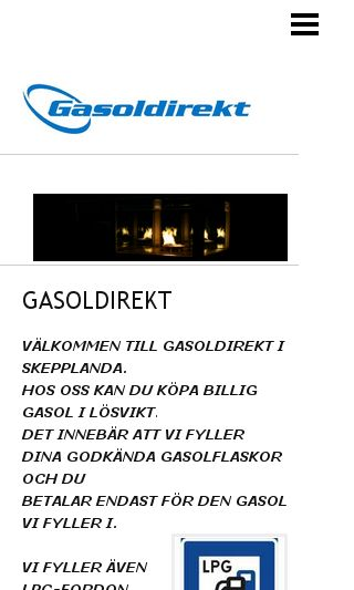 Mobile preview of gasoldirekt.se