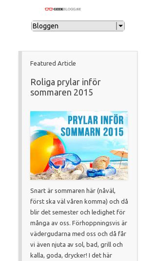 Mobile preview of geekblogg.se