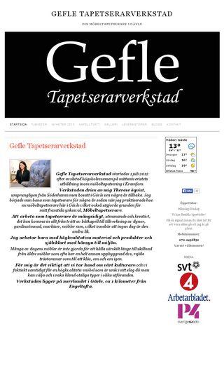 Mobile preview of gefletapetserarverkstad.se
