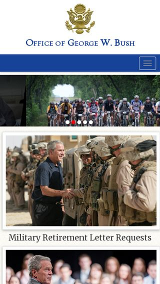Mobile preview of georgewbush.com