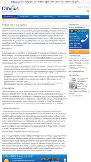 Mobile preview of geschilonline.nl